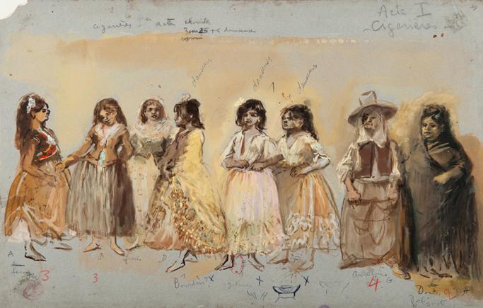 Lila De Nobili, costumes de cigarières pour Carmen de Bizet, 1959