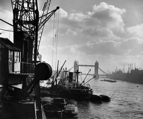 Industrial Docks on the Thames.