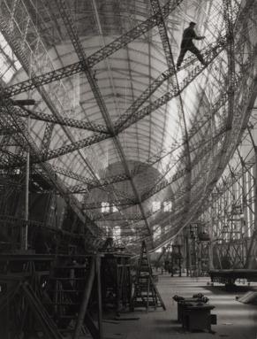 Skeleton of Graf Zeppelin, Friedrichshafen, 1928.