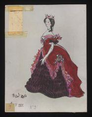 Cecil Beaton's sketch for Traviata